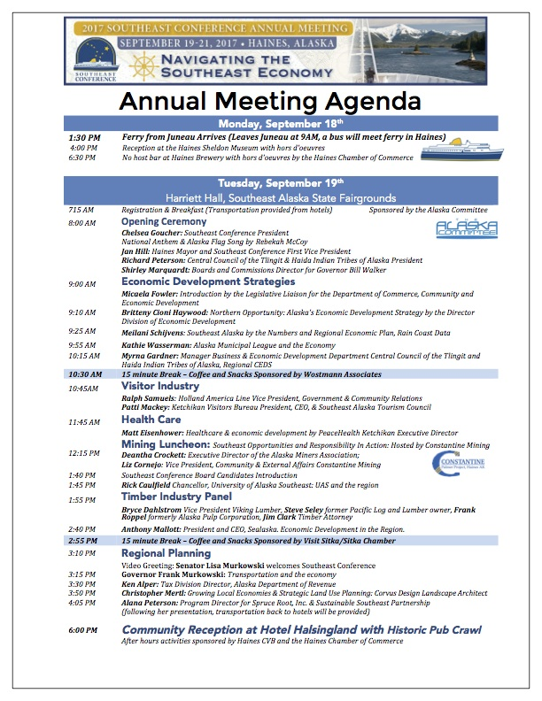 Annual Meeting Agenda  Southeast Conference