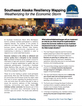 Southeast Alaska Resiliency Mapping: Weatherizing for the Economic Storm
